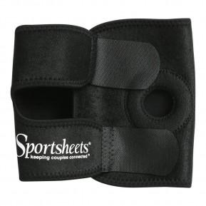 Ремень на бедро для страпона Sportsheets Thigh Strap-On, на липучке, можно на подушку, объем 55см