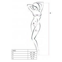 Бодистокинг Passion BS003 White, комбинезон, мелкая сеточка