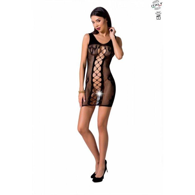Откровенное платье-сетка Passion BS073 black