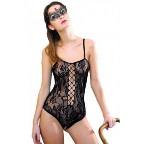 Эротический боди сетка Anne De Ales BAROQUE Black XL