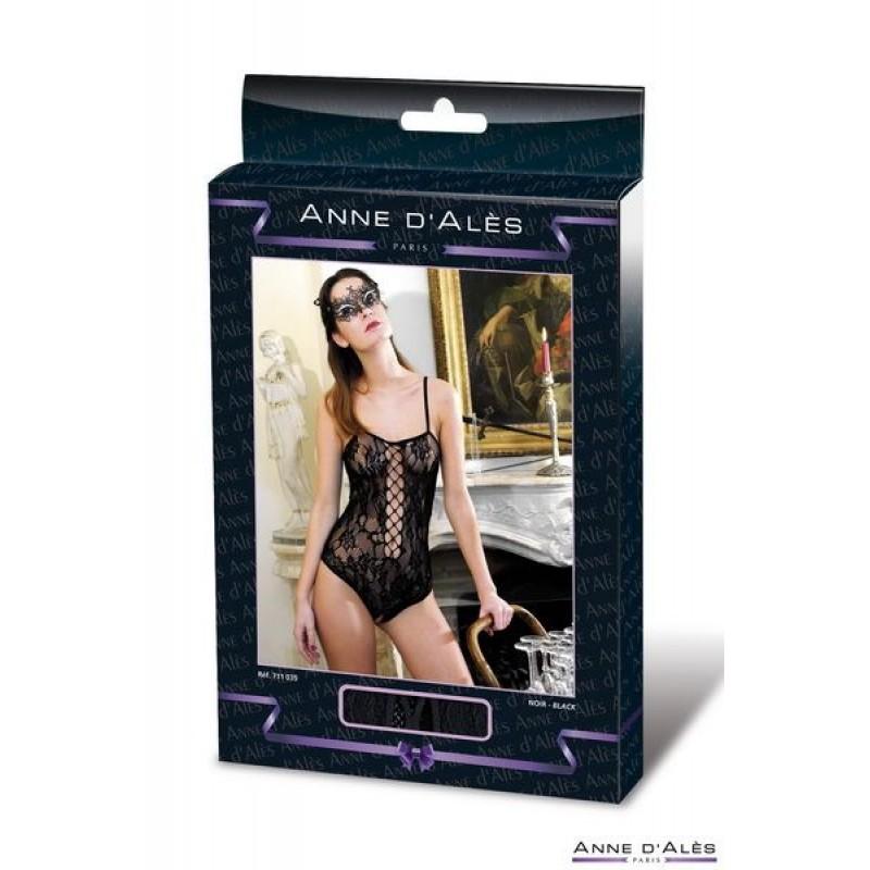 Эротический боди сетка Anne De Ales BAROQUE Black S/M