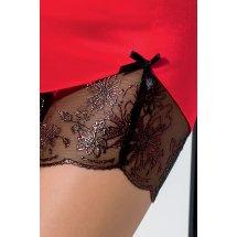 Сорочка приталенная с чашечками BRIDA CHEMISE Red XXL/XXXL - Passion E...