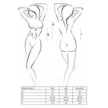 Эротический корсет с пажами XENA CORSET White L/XL - Passion, трусики,...