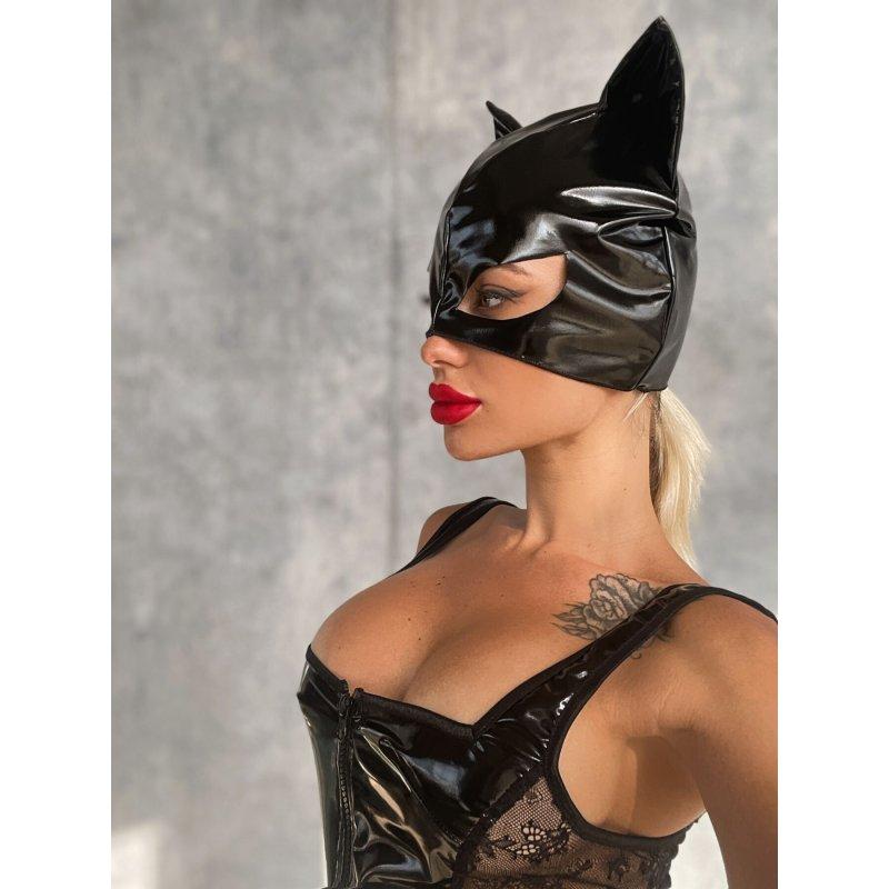 """Лакированная маска """"Кошка"""""""