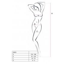 Бодистокинг Passion BS025 Black, платье-сетка, спущенное плечо, длинны...