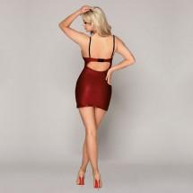 Эротическое бордовое платье JSY S/M