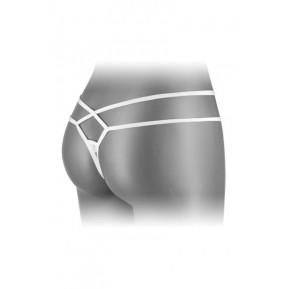 Эротические женские трусики-стринги Fashion Secret MYLENE White с двойной линией бедра