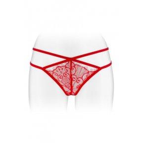 Эротические женские трусики-стринги Fashion Secret MYLENE Red с двойной линией бедра
