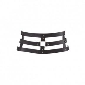 Портупея-пояс Bijoux Indiscrets MAZE - Wide Belt and Restraints Black, экокожа