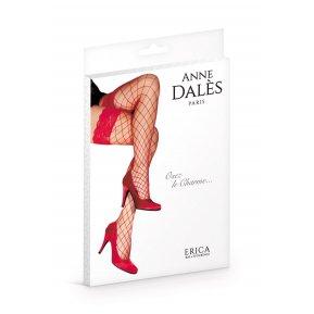 Чулки в крупную сетку Anne De Ales ERICA T1 Red