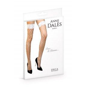 Чулки в крупную сетку Anne De Ales ERICA T2 White