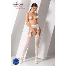 Эротические колготки-бодистокинг Passion S020 White, имитация ажурных ...