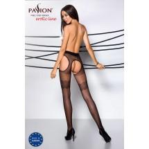 Эротические колготки TIOPEN 002 nero 3/4 (20 den) - Passion, имитация ...