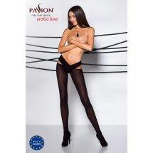 Эротические колготки TIOPEN 005 nero 3/4 (60 den) - Passion, с вырезом...