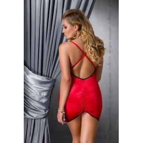 Сорочка приталенная с открытой спиной LENA CHEMISE Red 4XL/5XL - Passion, трусики