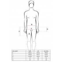 Эротические мужские шорты 001 SHORT Black XXL/XXXL - Passion