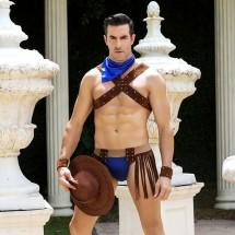 Мужской эротический костюм ковбоя JSY
