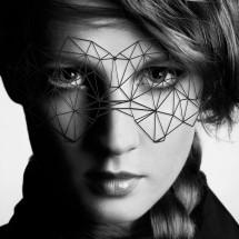 Маска на лицо Bijoux Indiscrets - Kristine Mask, виниловая, клеевое кр...