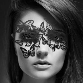 Маска на лицо Bijoux Indiscrets - Sybille Mask, виниловая, клеевое крепление, без завязок