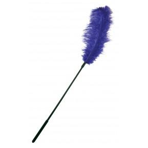 Щекоталка с пером страуса Sportsheets Ostrich Tickler Фиолетовая, для изысканных ласк