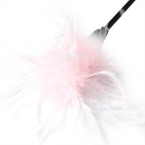 Метелочка 2-в-1 Sex And Mischief - Whip & Tickle Pink/White (щекоталка и шлепалка)