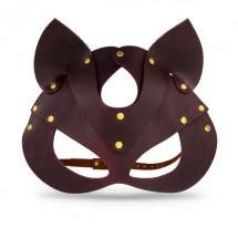 Премиум маска кошечки LOVECRAFT, натуральная кожа, фиолетовая, подароч...