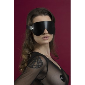 Маска на глаза Feral Feelings - Blindfold Mask, натуральная кожа, черная