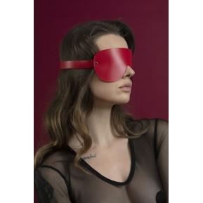 Маска на глаза Feral Feelings - Blindfold Mask, натуральная кожа, красная