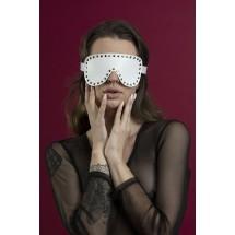 Маска на глаза с заклепками Feral Feelings - Blindfold Mask, натуральн...