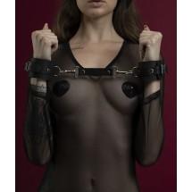 Наручники Feral Feelings - Hand Restraints, натуральная кожа, черные