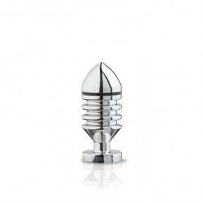 Металлическая анальная пробка Mystim Hector Helix S для электростимулятора, диаметр 4см