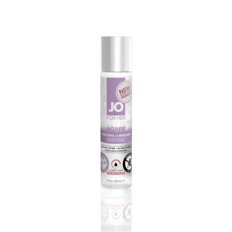 Разогревающая смазка System JO AGAPE - WARMING (30 мл) без глицерина, гликоля и парабенов