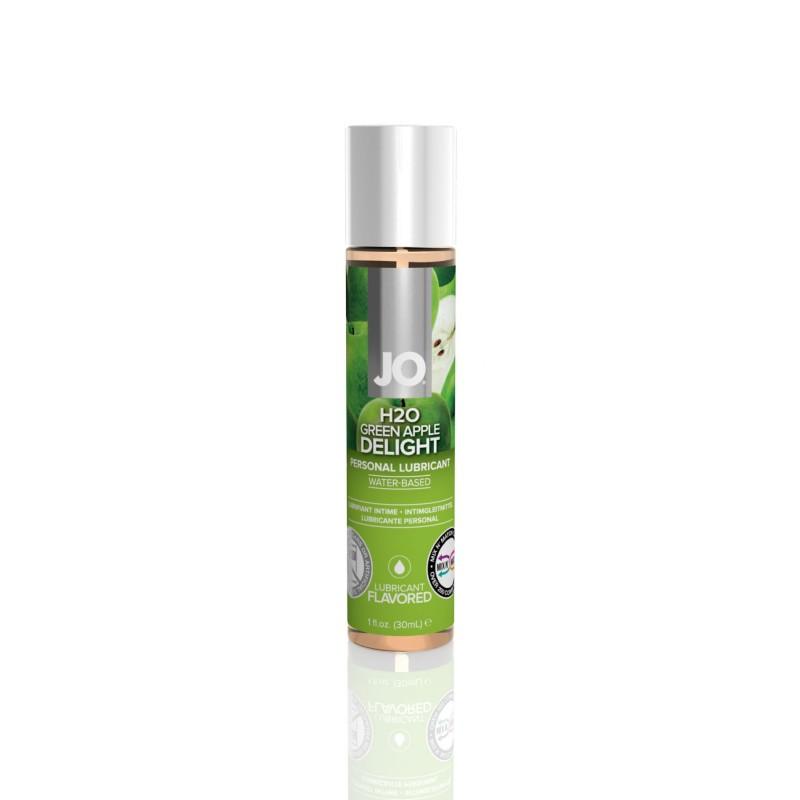 Смазка на водной основе System JO H2O - Green Apple (30 мл) без сахара, растительный глицерин
