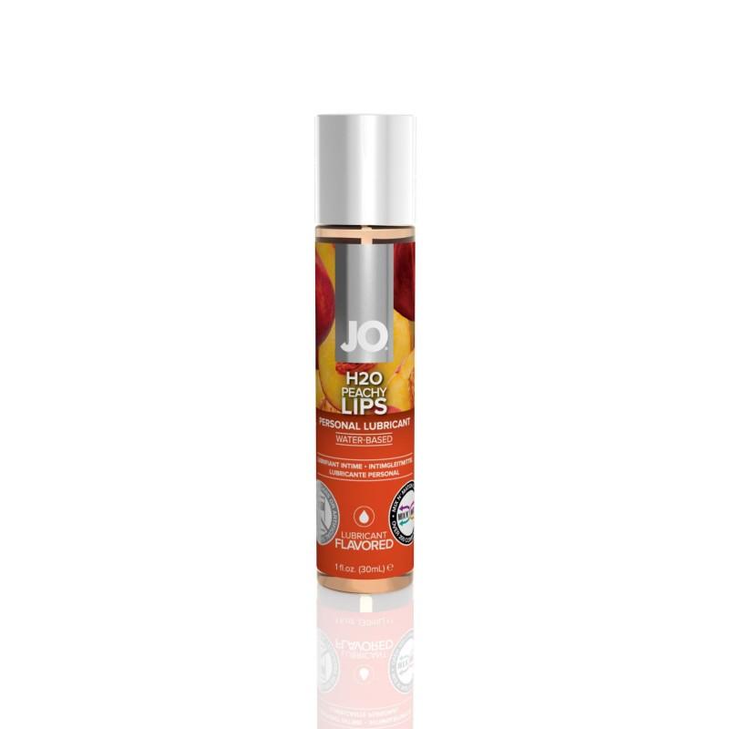 Смазка на водной основе System JO H2O - Peachy Lips (30 мл) без сахара, растительный глицерин