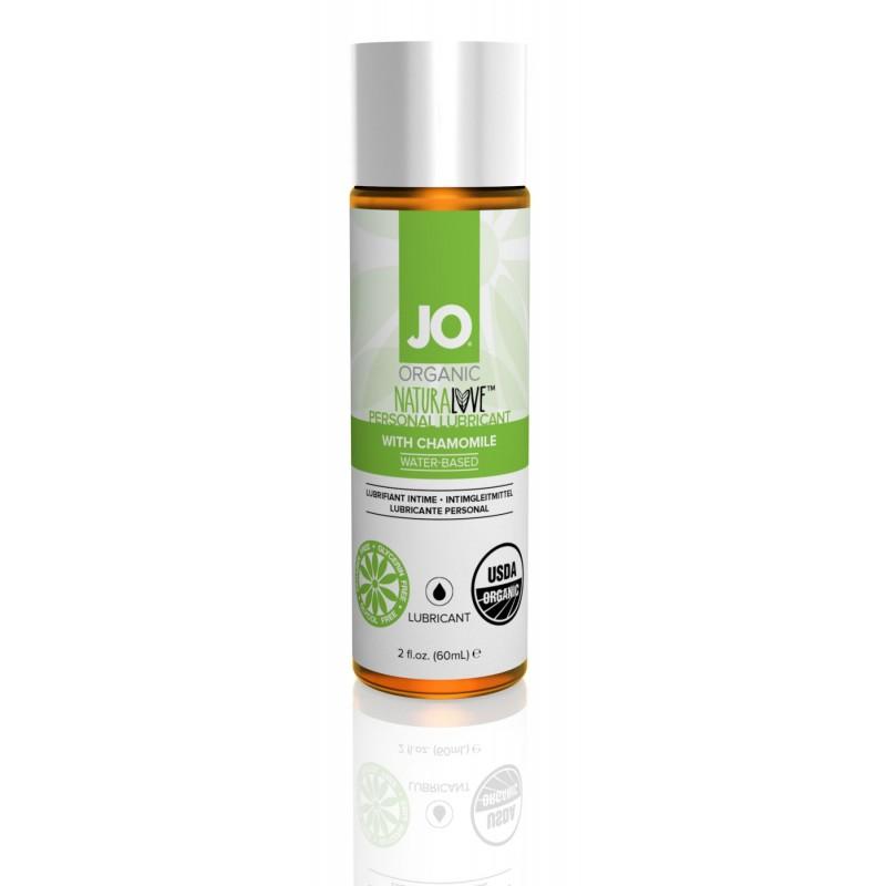 Смазка на водной основе System JO NATURALOVE - ORGANIC (60 мл) с экстрактом листьев агавы и ромашки