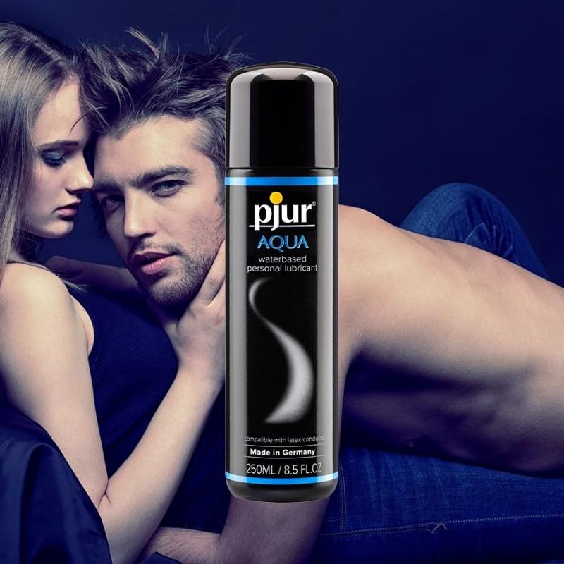 Лубрикант на водной основе Pjur Aqua 250 мл, эффект бархатистой кожи без прилипания