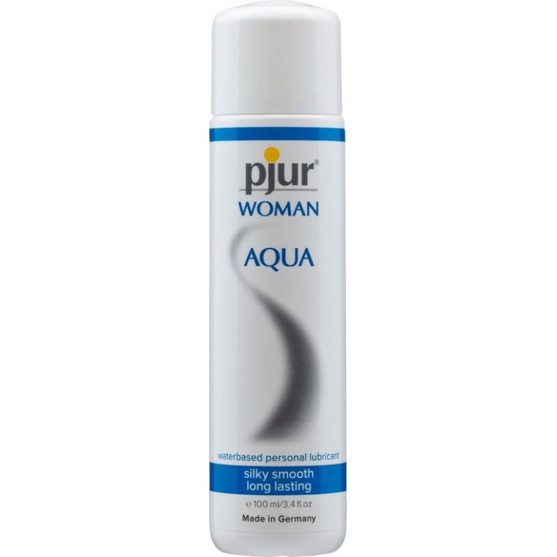 Лубрикант на водной основе Pjur Woman Aqua 100 мл для интенсивного скольжения, увлажнение и уход