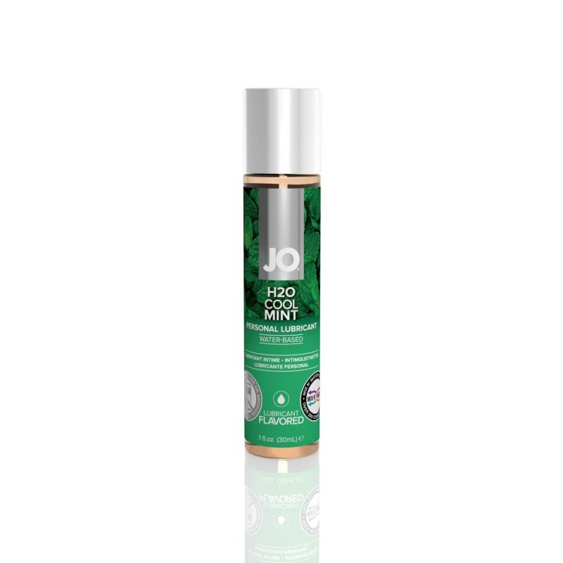 Смазка на водной основе System JO H2O - Cool Mint (30 мл) без сахара, растительный глицерин