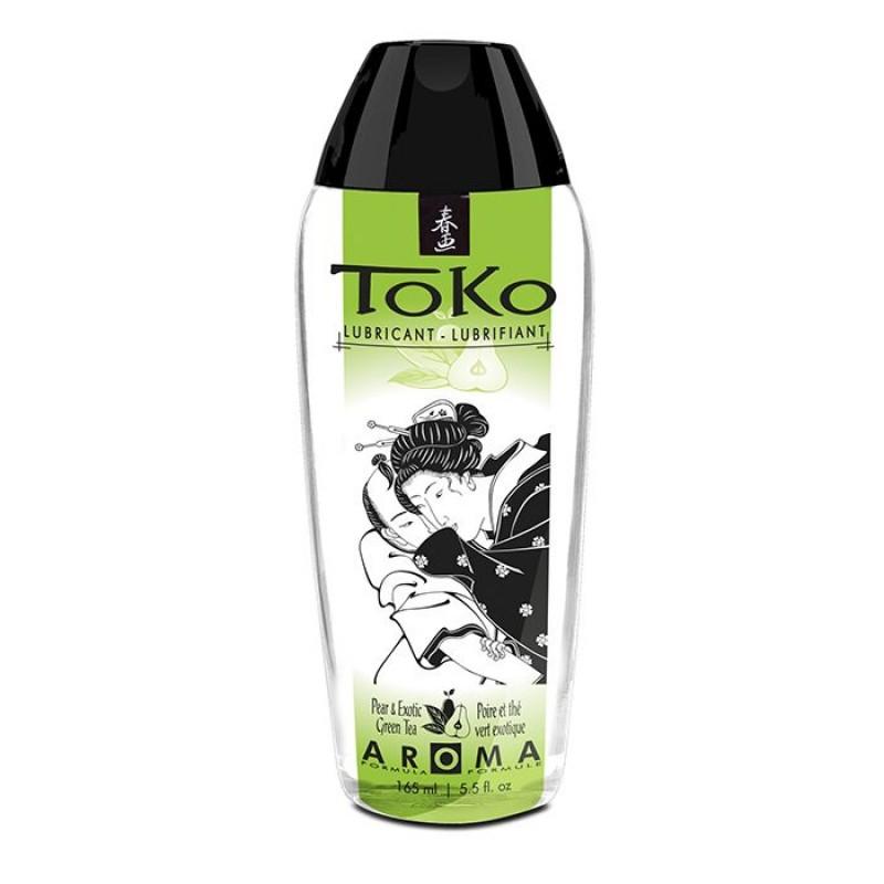 Лубрикант на водной основе Shunga Toko AROMA - Pear & Exotic Green Tea (165 мл), не содержит сахара