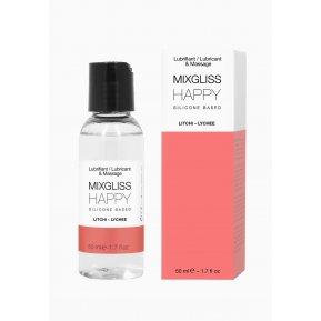 Лубрикант на силиконовой основе MixGliss HAPPY - LITCHI (50 мл) с ароматом китайского личи