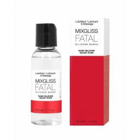 Лубрикант на силиконовой основе MixGliss FATAL - VALVET ROSE (50 мл) с ароматом бархатной розы