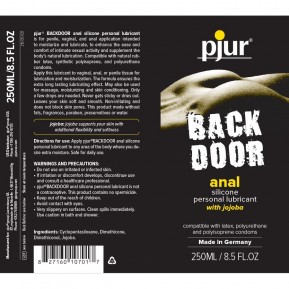 Анальная смазка Pjur Backdoor anal Relaxing Jojoba Silicone 250 мл на силиконовой основе с жожоба