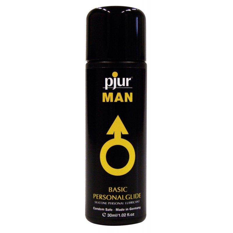 Лубрикант на силиконовой основе Pjur MAN Basic personal glide 30 мл с деликатным уходом за кожей