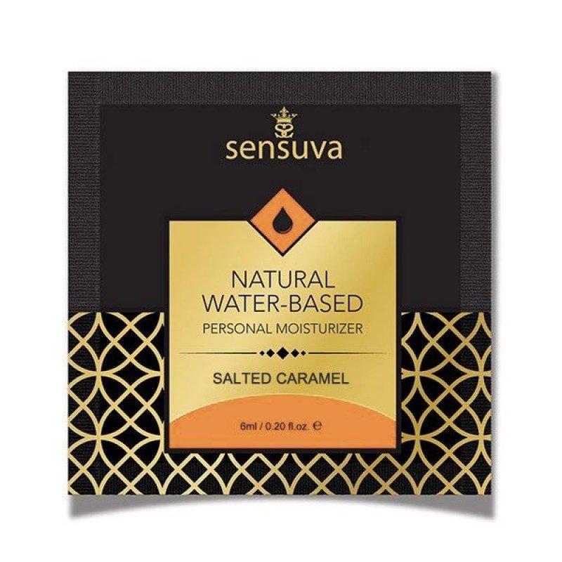 Пробник лубриканта на водной основе Sensuva - Natural Water-Based Salted Caramel (6 мл)