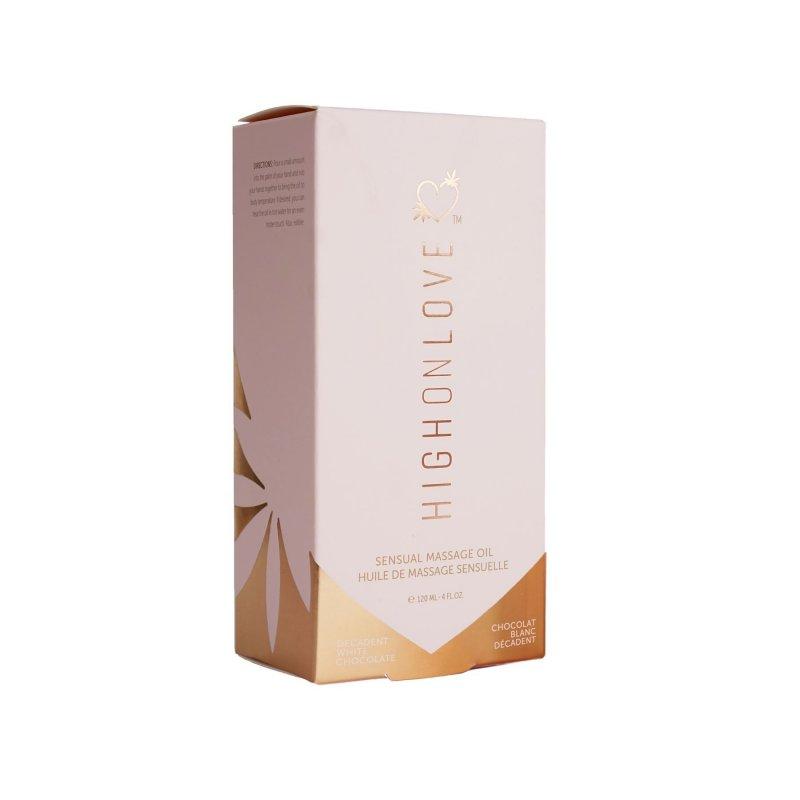 Распродажа! Массажное масло HighOnLove Massage Oil - Decadent White Chocolate 120 мл (срок 06.2022)