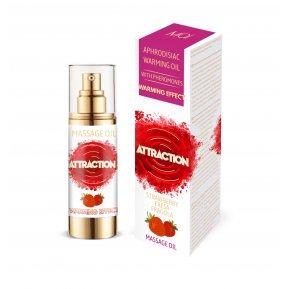 Разогревающее массажное масло с феромонами MAI MASSAGE OIL - STRAWBERRY (30 мл) (без упаковки)