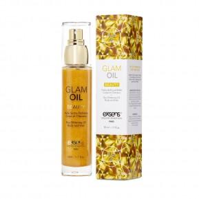 Масло для тела с блеском EXSENS Glam Oil 50мл, с маслом миндаля (03.2021)