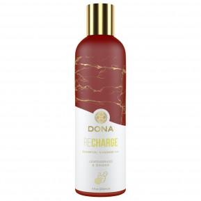 Натуральное массажное масло DONA Recharge - Lemongrass & Gingerl 120 мл (годен до 11.21)