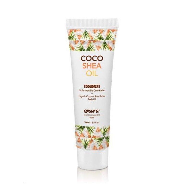Распродажа! Органическое кокосовое масло Карите (Ши) для тела EXSENS Coco Shea 100 мл (срок 04.2022)
