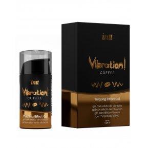 Жидкий вибратор Intt Vibration Coffee (15 мл) (подмокшая упаковка)